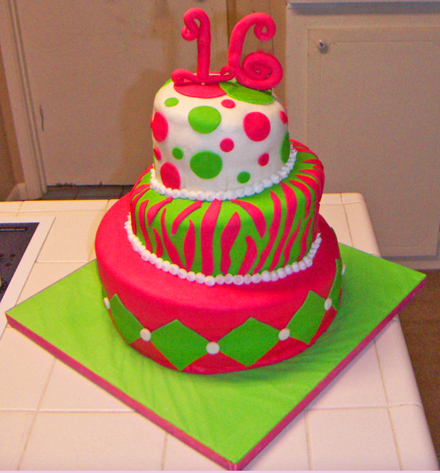 Sweet 16 Birthday Cakes Wallpaper